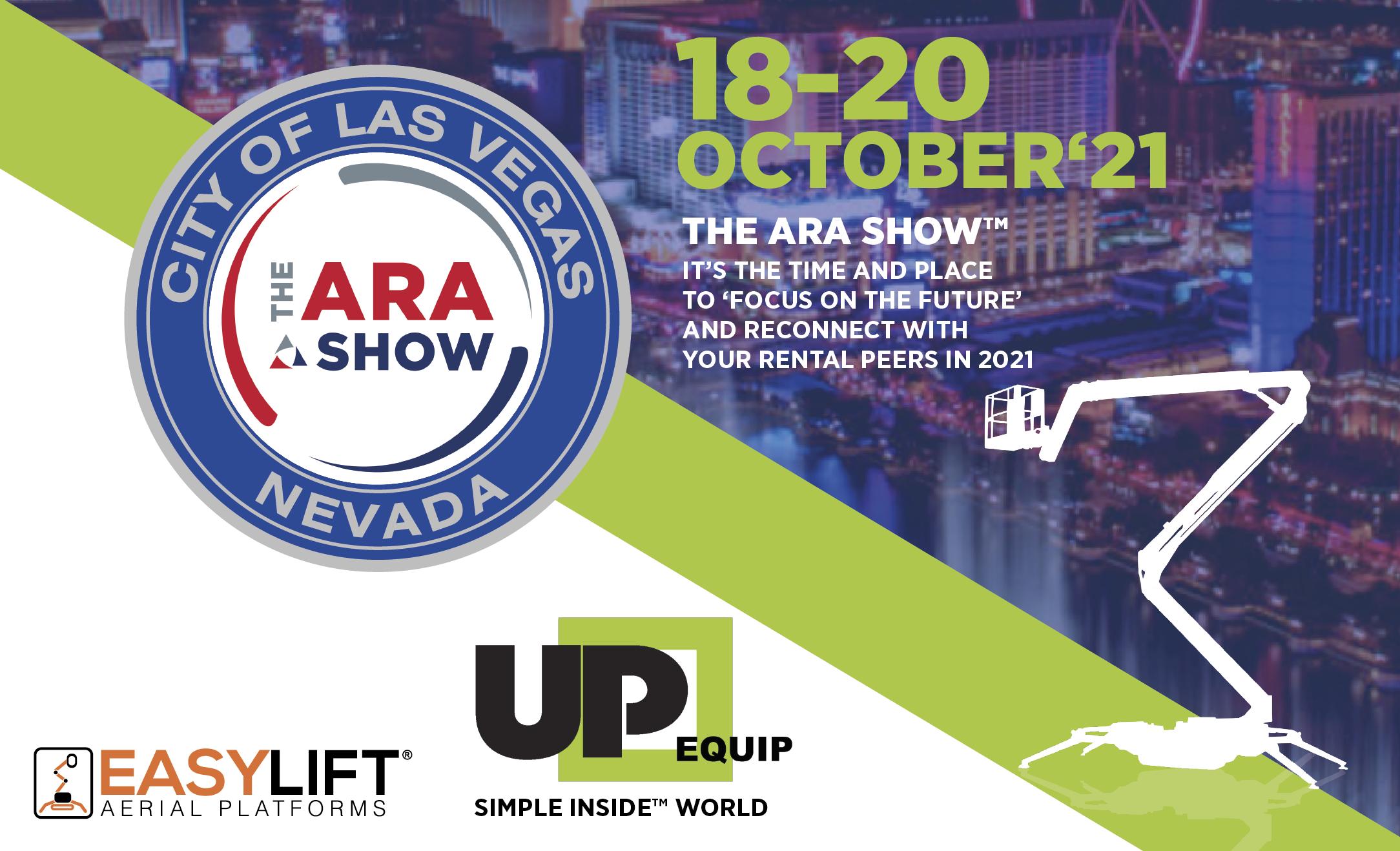 Le piattaforme cingolate Easy Lift all'ARA SHOW 2021!